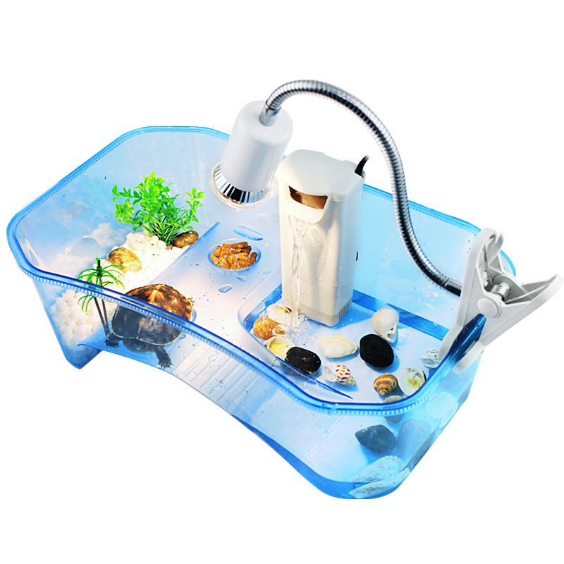 乌龟缸小养龟盆箱巴西带晒台鱼缸水陆缸乌龟塑料养乌龟活体专用缸
