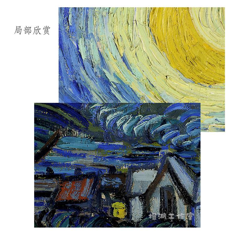 梵高 星夜 畫芯 經典油畫名畫 紐約現代藝術博物館藏 優質布畫芯