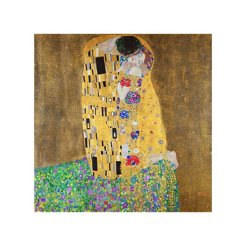 古斯塔夫.克里姆特 本款特價 吻 布畫芯 世界經典油畫名畫 正方形