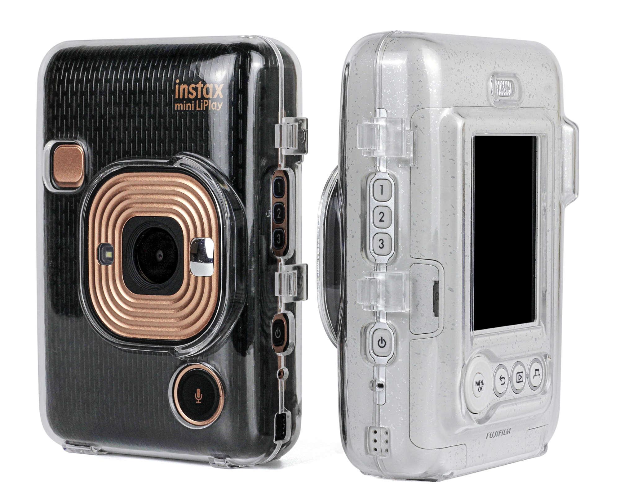 富士mini LiPlay 透明壳一次成像拍立得liplay相机皮革包