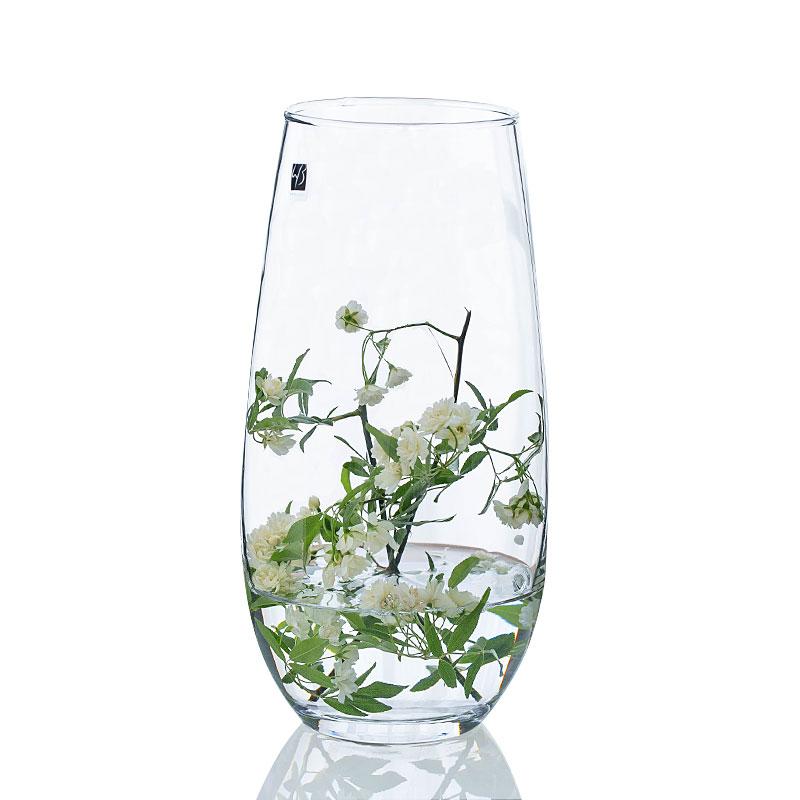 恐龙蛋造型花器 欧式彩色玻璃花瓶 插花透明 客厅餐桌工艺品摆件