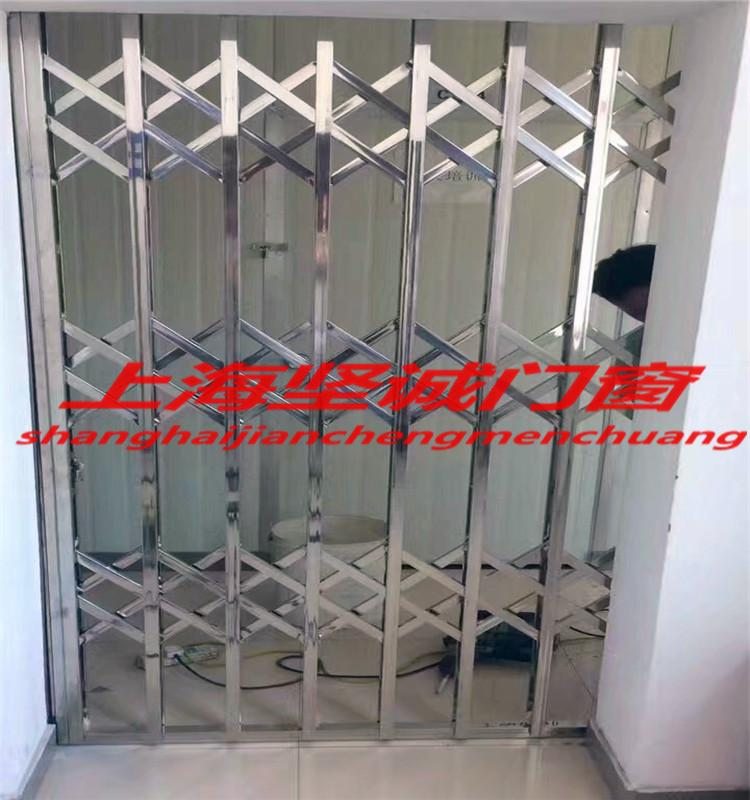 上海(依琳门窗)不锈钢304拉闸门伸缩门推拉防盗窗阳台推拉门