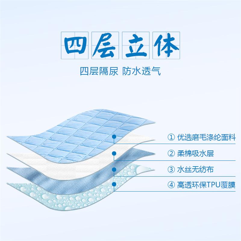 婴儿隔尿垫防水床单透气可机洗儿童床笠超大号老人床垫姨妈月经垫
