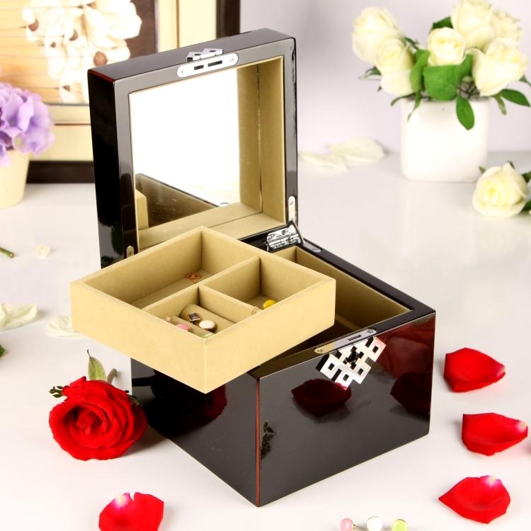 钢琴漆木质制首饰盒音乐盒八音盒创意结婚生日礼物送女友女生闺蜜