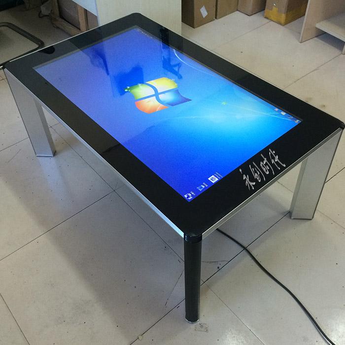 42/55寸触摸屏一体机/多媒体触摸互动桌/电容多点触摸查询一体机