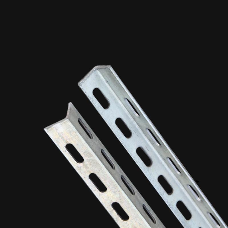 直角万能角钢花边货架冲孔三角铁支架材料加厚材料 镀锌角铁 骞宇