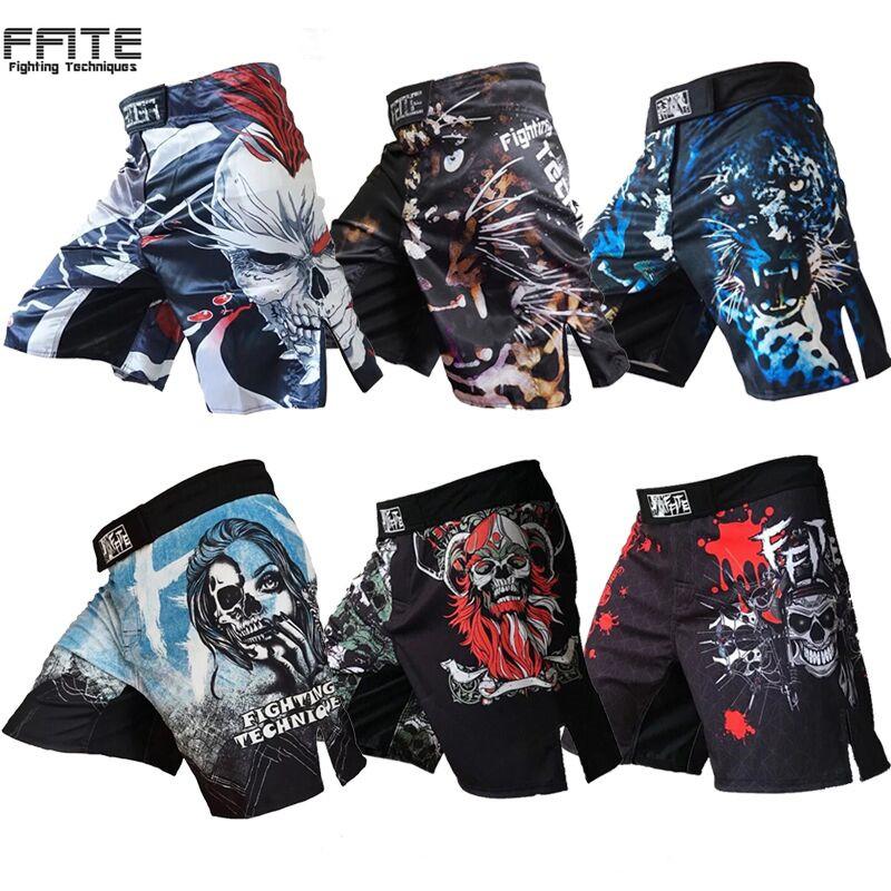MMA搏击训练短裤UFC综合格斗技裤子运动健身柔术散打泰拳男短裤
