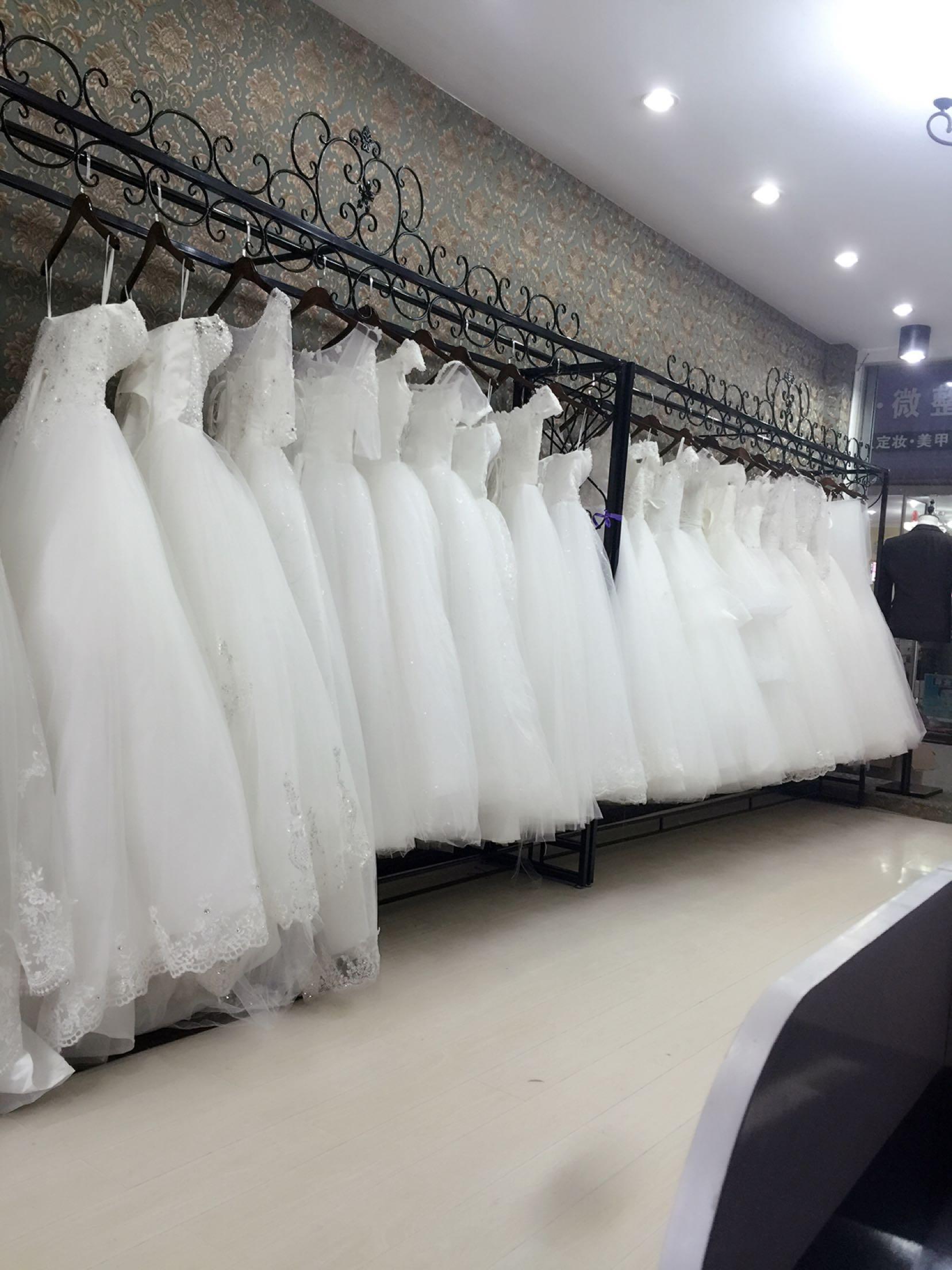 铁艺婚纱架高档礼服旗袍展示架挂婚纱架子落地服装架衣服货架现货