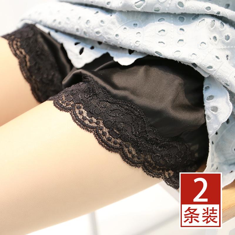 2条 安全裤防走光女夏薄款蕾丝可外穿内搭短打底裤宽松防透内衬裤