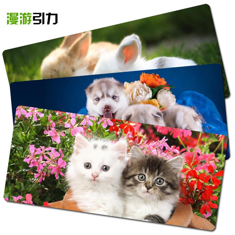 动物萌宠图集 超萌猫狗兔老虎松鼠 超大游戏办公桌垫键盘垫鼠标垫