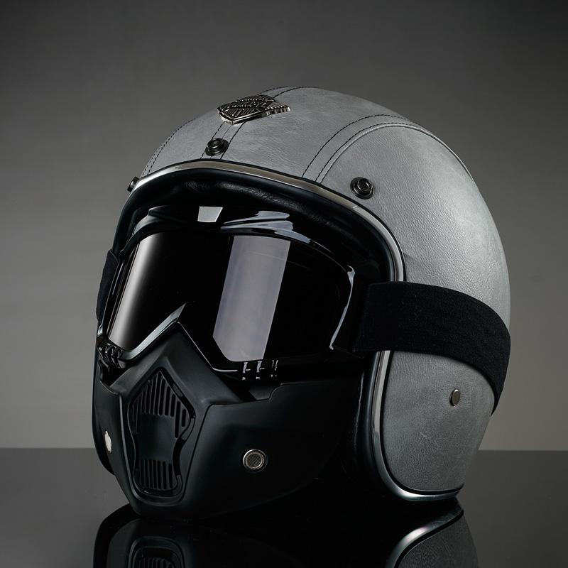 Ms Wang 纯色哈雷摩托车头盔