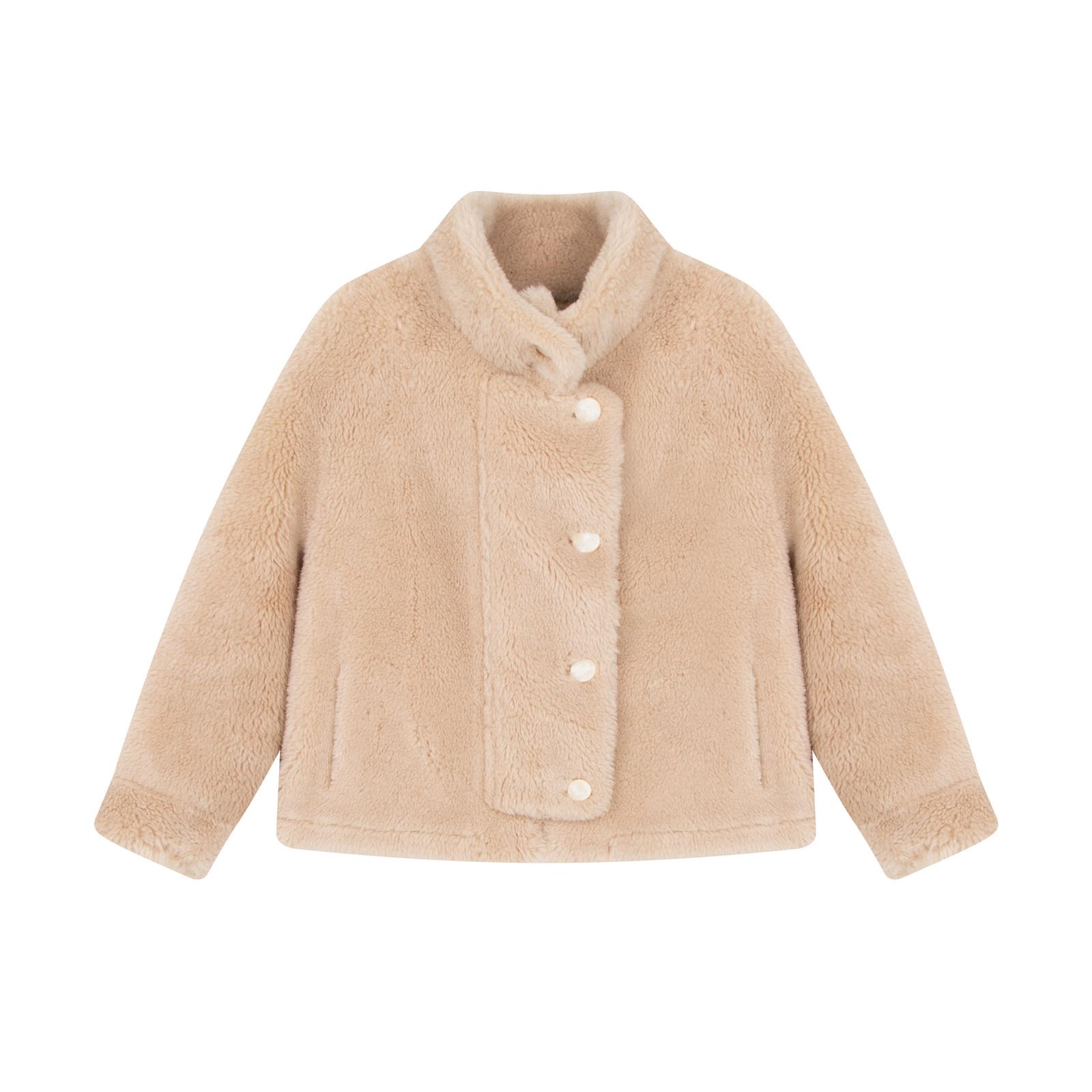 羊毛立领气质短款毛呢外套女秋冬时尚毛毛外套 钱夫人家雪梨定制