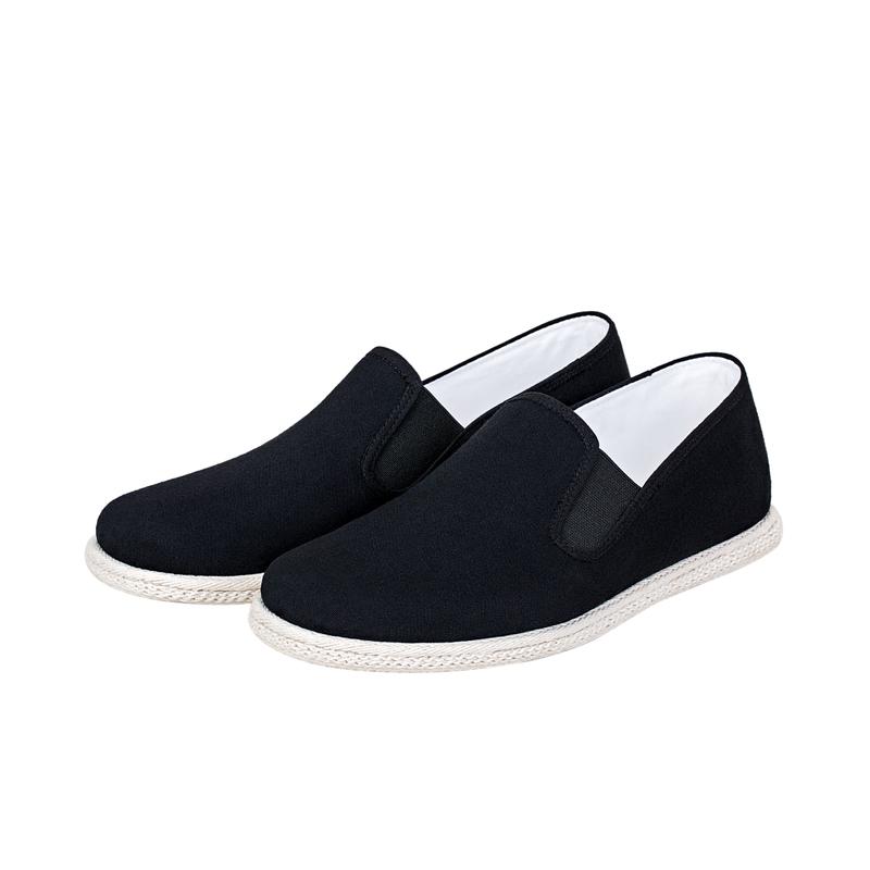 步步升手工布鞋男千层底时尚男士布鞋黑色老北京布鞋中式爸爸布鞋