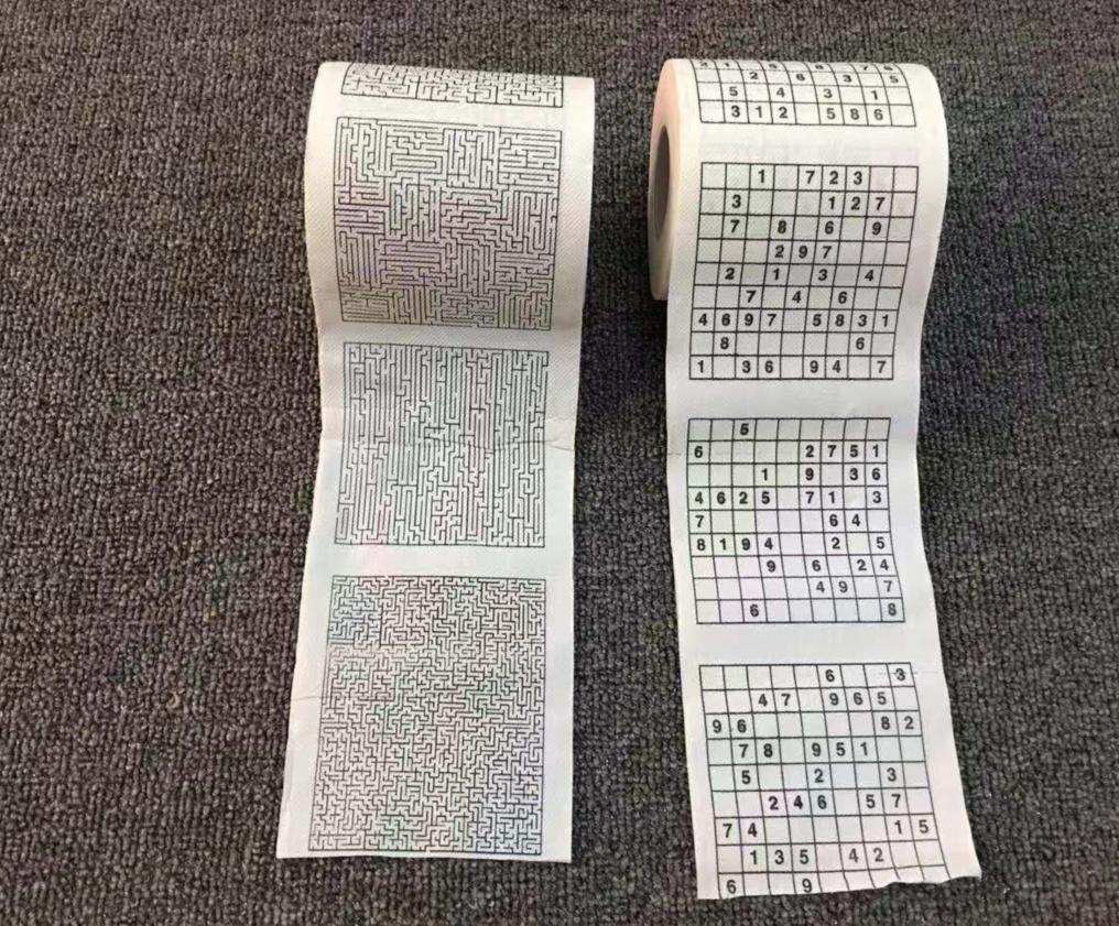 益智创意数独卷纸迷宫纸巾,厕所不在无聊了