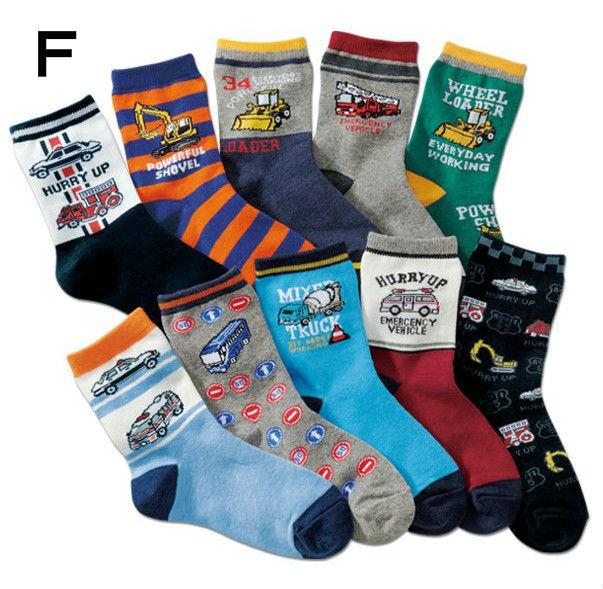 男童襪子新款汽車圖案中筒襪兒童襪子純棉春秋冬短襪卡通寶寶襪子
