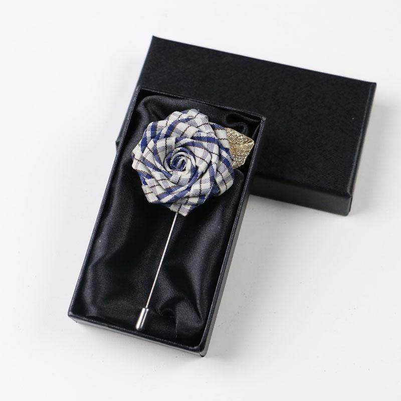 新款潮流饰品西装玫瑰花胸花胸针男女花朵胸花衬衫领针领花礼盒