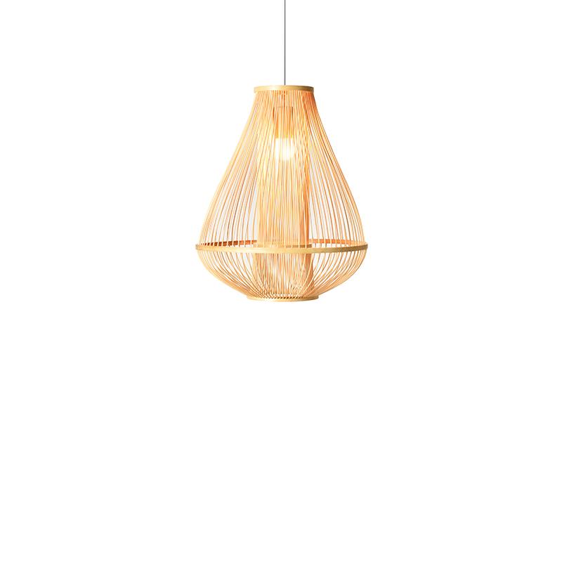 新中式编织竹丝客厅餐厅吊灯简约日式榻榻米茶室竹灯 十竹九造