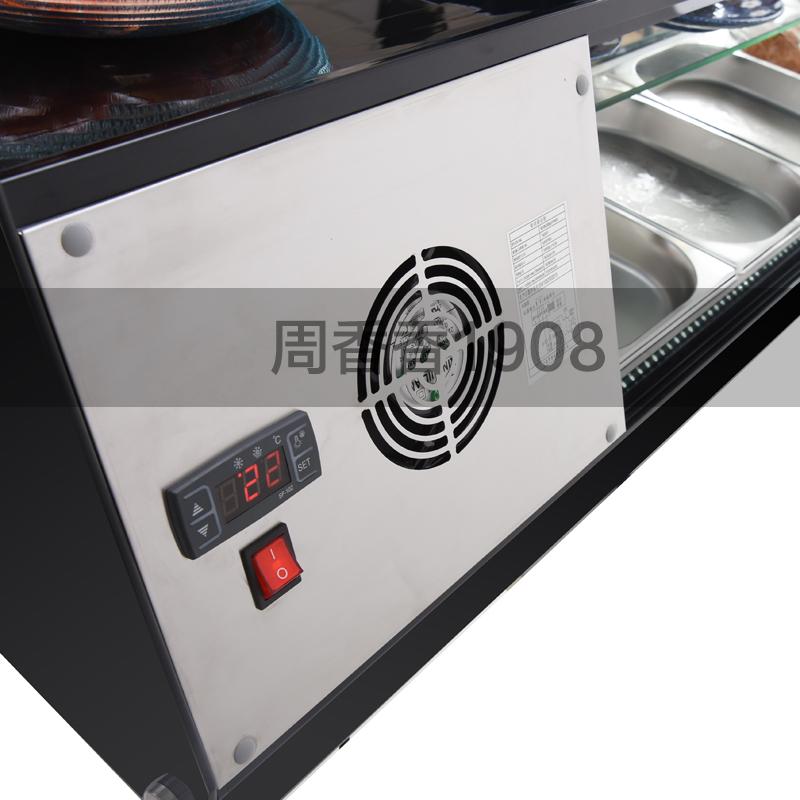 三层台式寿司柜商用冷藏展示柜熟食保鲜柜沙拉冰柜水果刺身保鲜