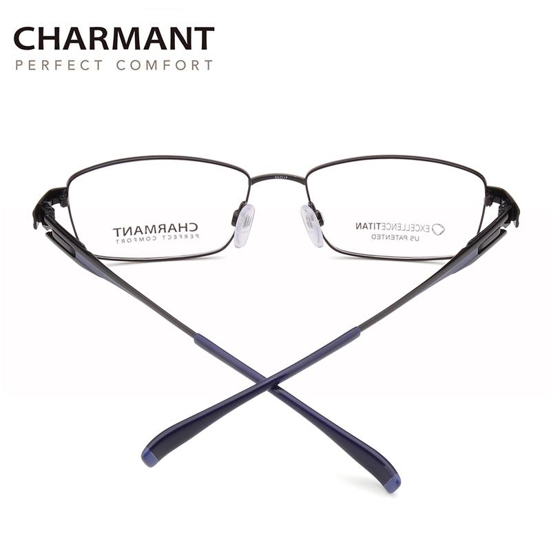 日本Charmant夏蒙线钛 商务全框眼镜框近视男 纯钛眼镜架CH12321
