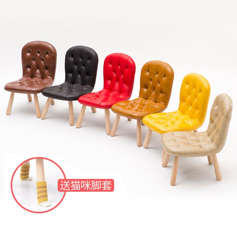 简域实木儿童椅宝宝椅矮凳幼儿园写字椅学习小椅子家用靠背沙发椅