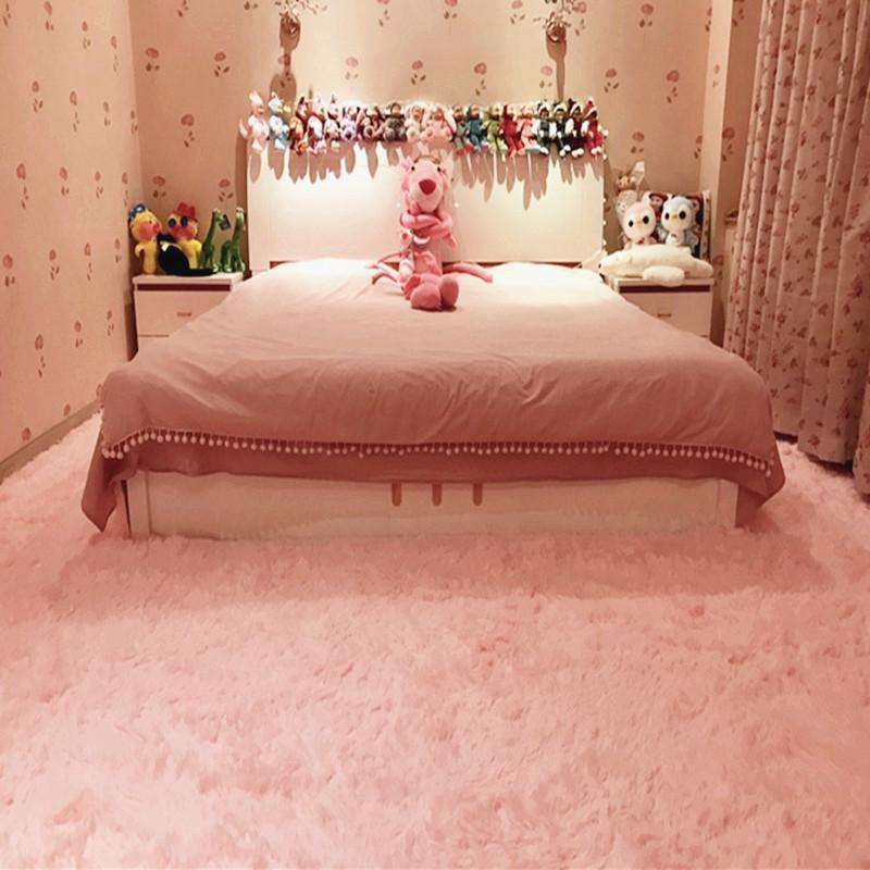 客廳家用絲毛小地毯卧室床邊長方形沙發地墊可定製房間滿鋪大地毯