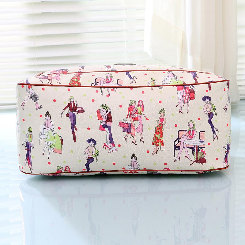 皮短途旅行袋旅游包包 PU 新款韩版大容量男女手提旅行包行李 包邮