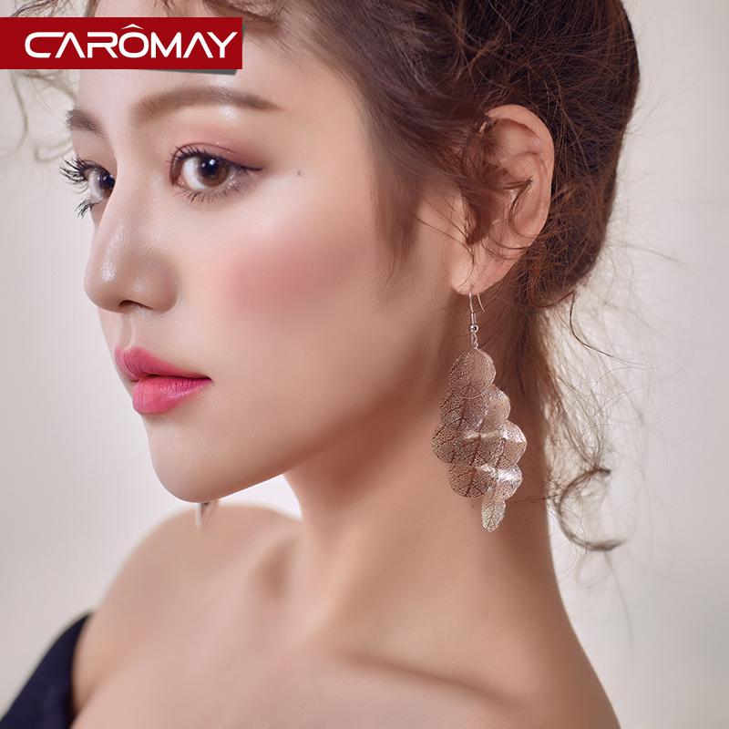 夸张飘逸流苏耳环个性韩国网红气质长款耳坠简约潮人显脸瘦的耳饰