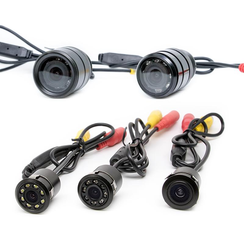 车用后视镜头通用打孔钻孔嵌入式汽车摄像头车载倒车影像高清夜视