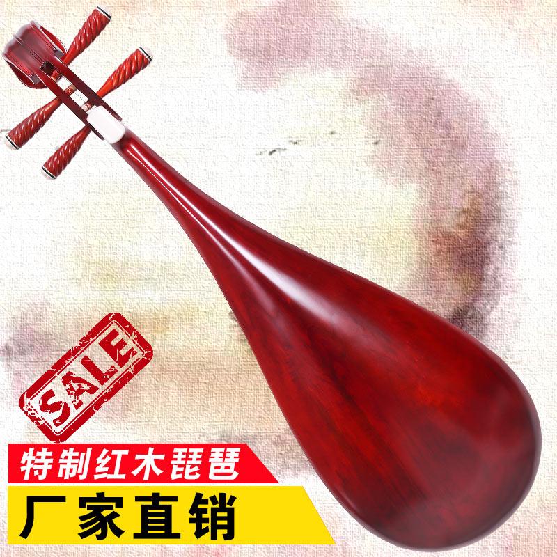 琵琶乐器特制红木初学者入门大人琵琶儿童练习琴专用民族乐器道具