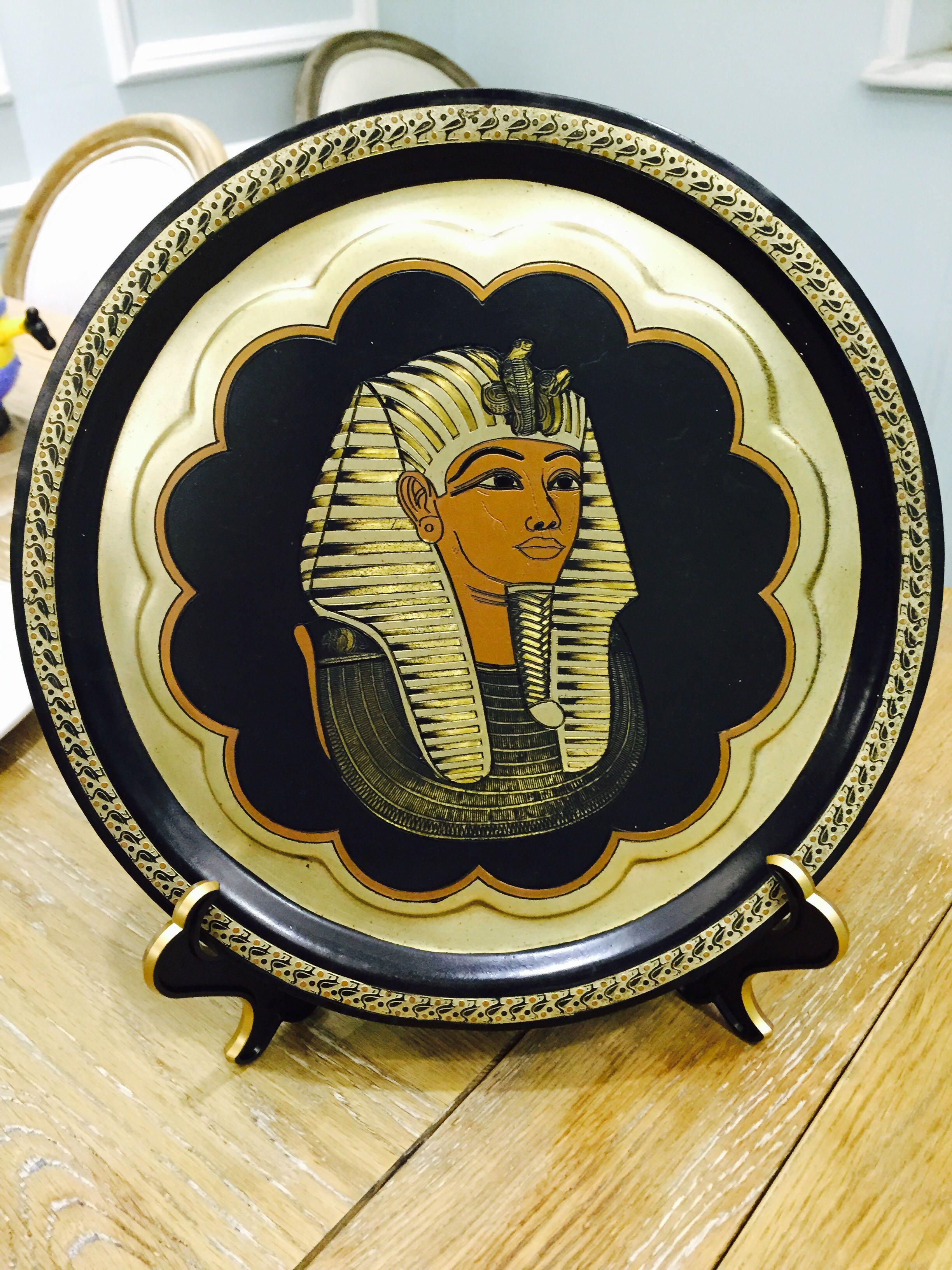 黑色盘子支架圆盘钟表装饰盘面膜证书展示架普洱茶饼迷你饼干架子
