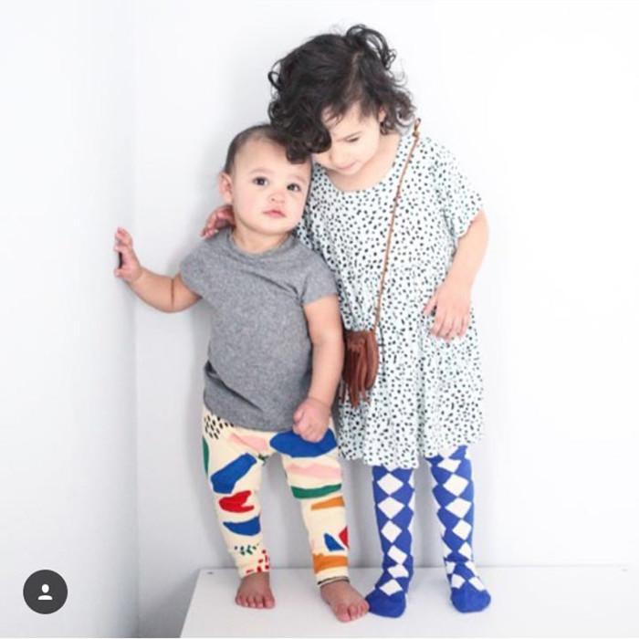 春夏INS欧美风清新条纹拼色宝宝袜中筒袜男女婴儿童纯棉高筒袜子
