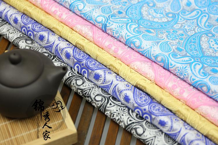 高档织锦缎布料 提花丝绸缎古装汉服和服唐装旗袍服装织锦缎面料