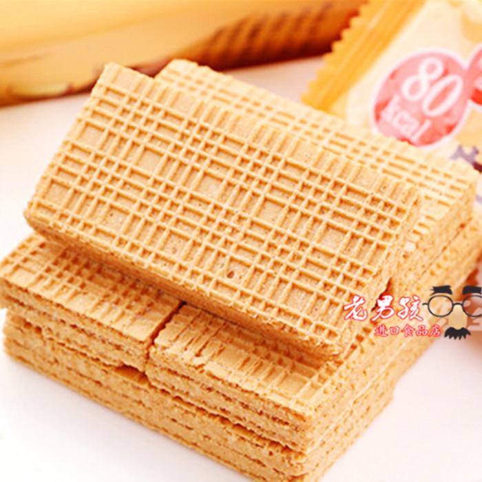 袋入 6 整箱价 波路梦豆乳威化饼干低卡夹心威化 日本进口