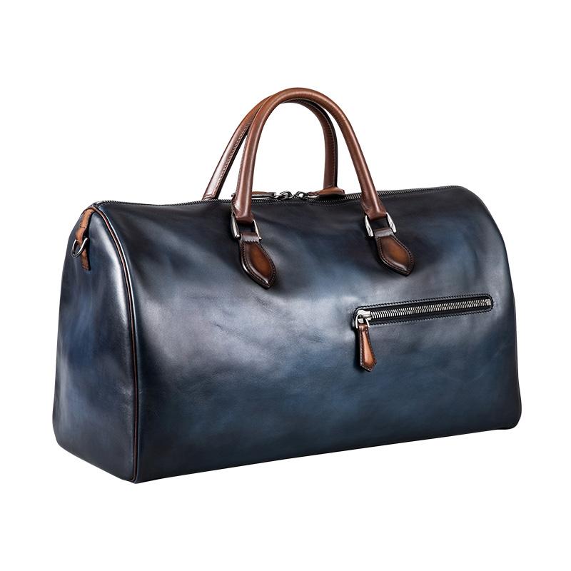 旅行包男真皮行李包手提包出差短途旅游包大容量健身包波士顿男包