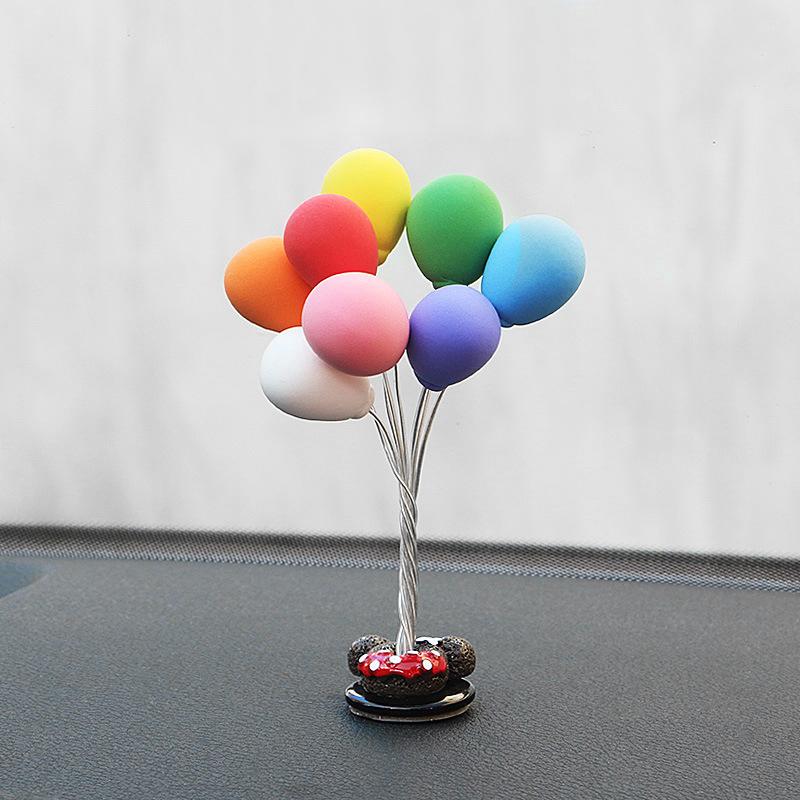 汽车摆件车载告白气球网红可爱创意气球摆件车内装饰用品漂亮男女