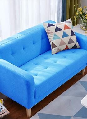 北欧沙发小户型布艺单人双人出租房服装店铺卧室阳台网红款小沙发