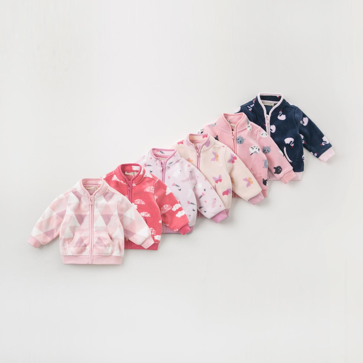 davebella戴维贝拉秋装女童外套新款童装婴儿洋气夹克上衣DB396