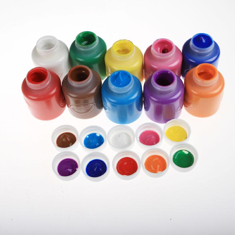 美国绘儿乐Crayola 10色可水洗颜料套装手指画常规色荧光色