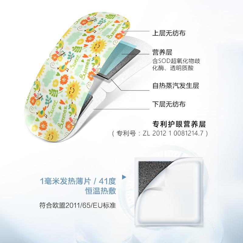 珍视明经典系蒸汽眼罩 热敷发热缓解眼疲劳眼罩睡眠遮光透气男女 - 图2