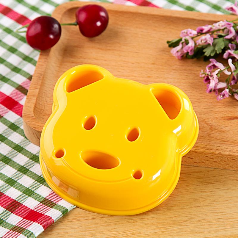 日本进口可爱小熊三明治模具厨房diy口袋三明治制作器便当面包机