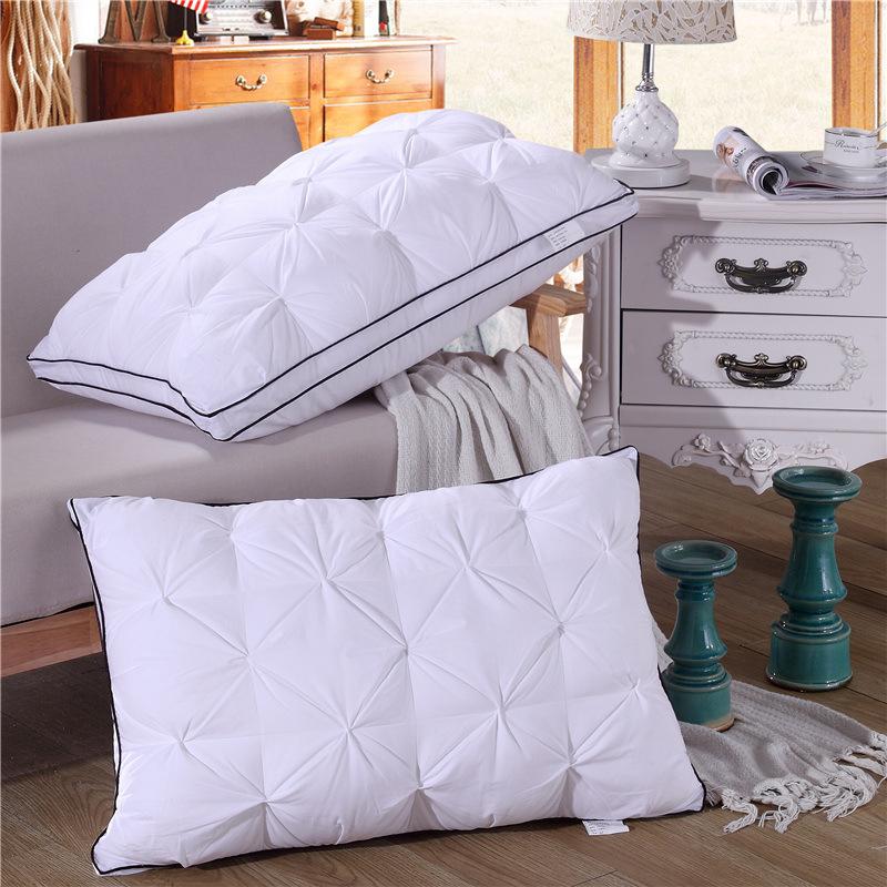 五星級酒店枕頭超柔軟護頸枕助睡眠枕芯一對正品大人枕頭加厚加高