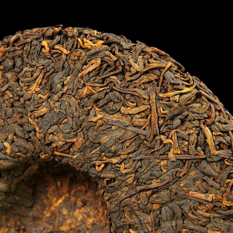 古树纯料云南茶叶古树七子饼熟茶叶特级普洱茶饼茶 357g 普洱熟茶饼