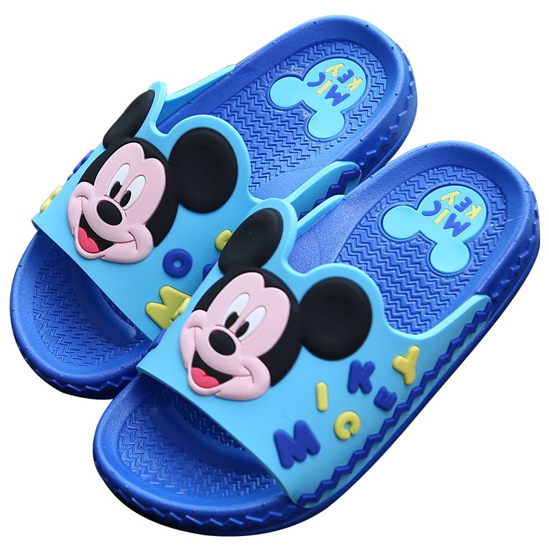迪士尼儿童拖鞋夏季卡通亲子凉拖鞋男童女童居家室内宝宝软底防滑主图