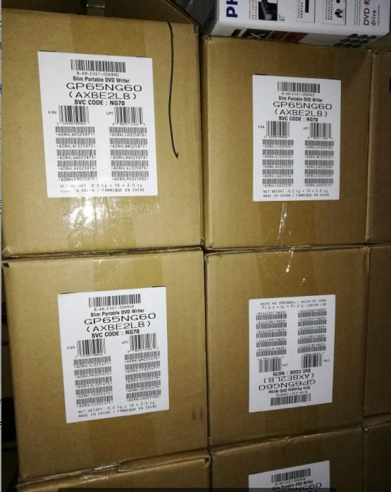 包邮lg外置dvd刻录机usb超薄移动刻录光驱白色黑色金色gp65