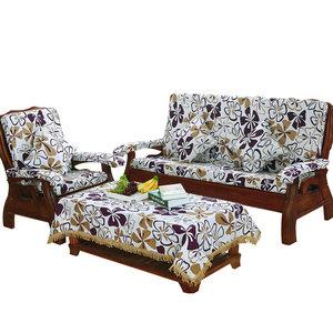 幸福音符实木沙发垫坐垫加厚红木沙发坐垫带靠背联邦椅垫子
