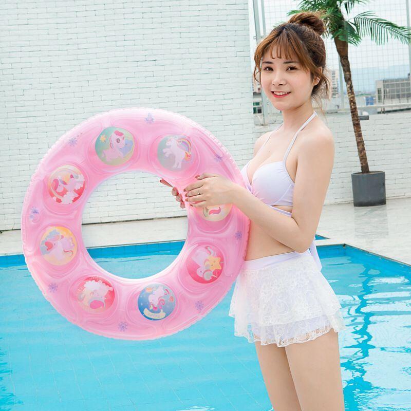游泳圈 双层气囊 儿童泳圈 成人泳圈腋下圈 男女救生圈 水晶浮圈