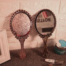 欧式复古单面手持化妆镜随身梳妆镜韩国手柄公主镜美容院手拿镜子