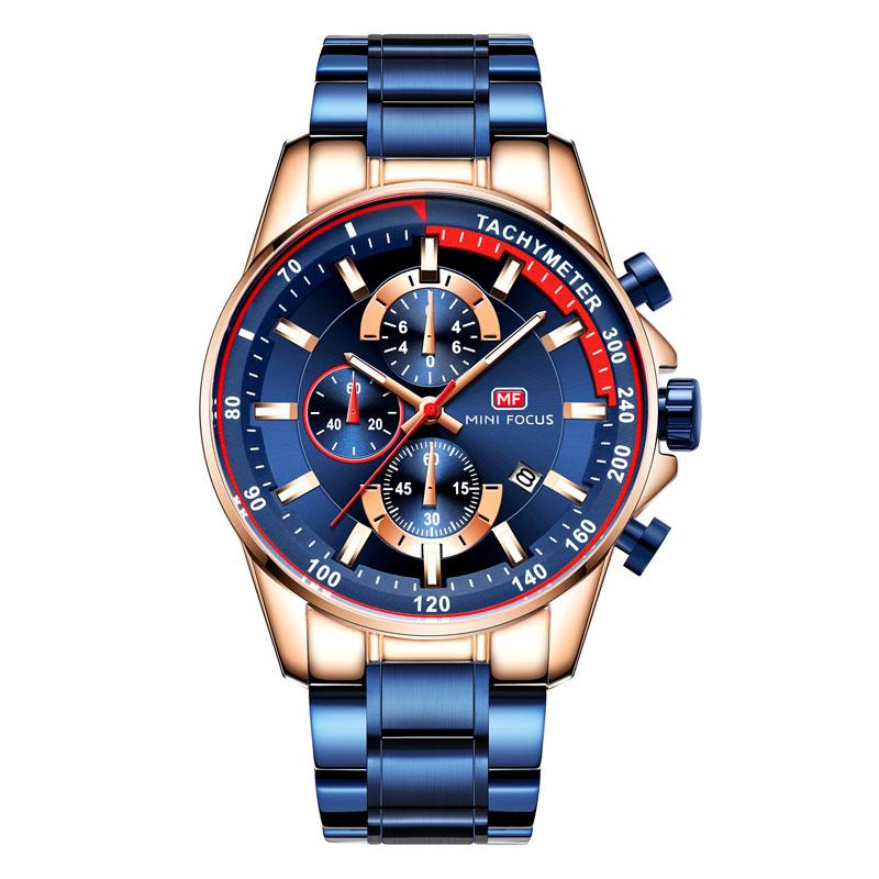 520 运动手表男大表盘智能多功能特种兵防水精钢带男士夜光腕表