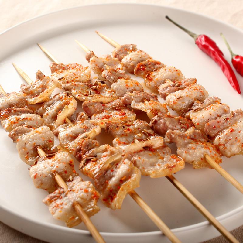 猪五花肉5串 烧烤食材半成品 烧烤串 羊肉串 新鲜 北京烧烤配送