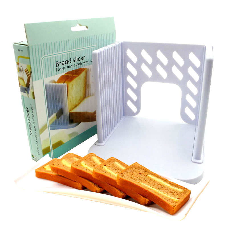 包邮烘焙工具面包切割器吐司分片器切刀家用面包机切片架切面包器